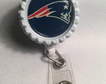 Retractable ID Badge New England Patriots ID Badge  Badge Holder