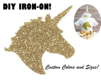 Diy UNICORN IRON ON, Vinyl Applique Decal, Shirt, Tank, Party Favor, Girls, Child, Kids, Adult, Pony, Clothing Accessory, Patch, Transfer