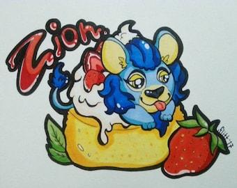Snack Drawing : Custom Fursona Art