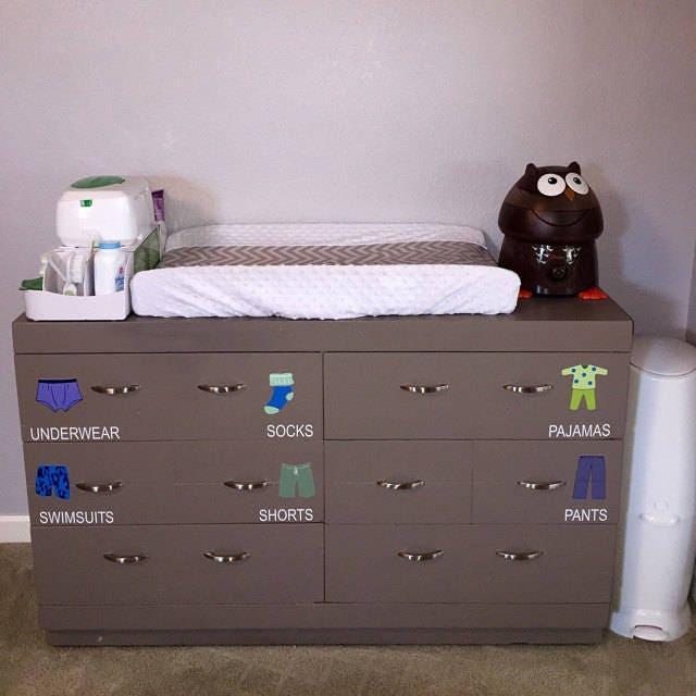 Dresser Clothing Decals Labels Boys Room Decals Dresser