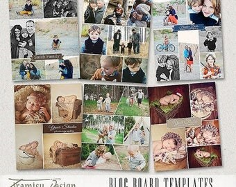 ON SALE Print Collage Templates - Blog Board Photoshop Templates ,Story Board Templates, 16x20invol.11
