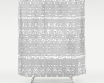 grey shower curtain gray shower curtain grey white curtain geometric curtain light