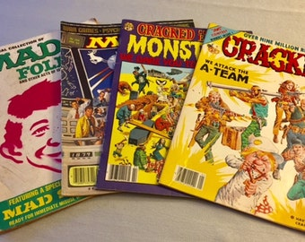 Four Vintage Mad Magazine Cracked Magazine Mad Follies 1984