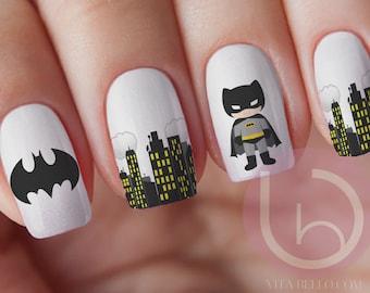 Batman nail etsy bat boy nail waterslide decal nail design nails press on nail decal prinsesfo Image collections