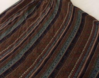 Wool Challis Bias Cut Skirt