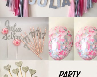 Party Decor pack- Birthday Baby shower Weddings Engagement party