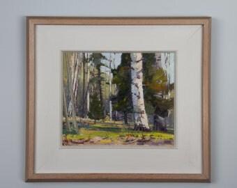 Langley Donges Landscape 1966 Oil on Board  10 x 12