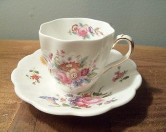 Vintage Old Coalport England Bone China Tea Cup and Saucer