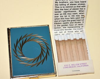 Vintage Ladies Match Box Holder/Elks Lodge 888/Long Beach California