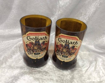 Wychwood Brewery Goliath Glasses (Recycled Bottles) Set of 2