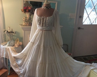 Gunne Sax Vintage Dress Fairytale Boho Enchanted Fantasy Woodland Wedding~ Sale was 126.00 now 96.00!!