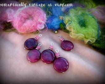 Beads, Charms, Pink, Handmade, Craft Supplies, Victorian, Shabby Chic, Embellishments, Earrings