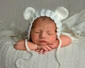 Newborn polar bear hat  , coca-cola bear, newborn bear, white bear hat