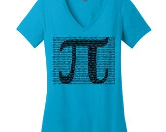 Pi Shirt Math Teacher Gifts for Teachers Math Shirts Math Gifts for Her Womens V Neck Tshirts for Women Nerdy Gifts Nerdy Shirts for Nerds