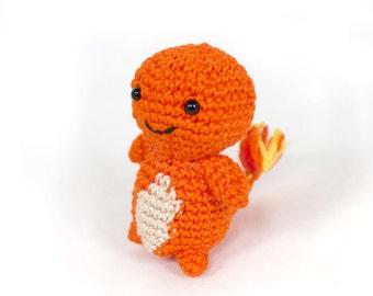 Mini Charmander Crochet Amigurumi Ready to Ship