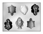 Fish, Frogs and Turtles Chocolate Mold, Baking, Candy Making, Party Supplies