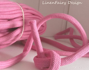 3 meters Cotton Rope 10 mm Pink Cotton Cord With Filling for Crafts Jewellery Decorations