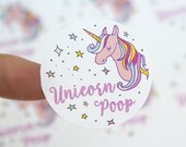 Unicorn Poop - Unicorn Stickers - Unicorn Party - Unicorn Party Favors - Party Favors - Favor Sticker - Favor Bag - Assorted Sizes Available