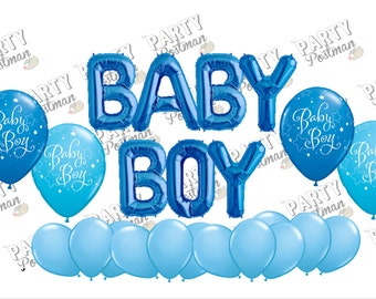Baby Boy Balloon Cluster Party Pack