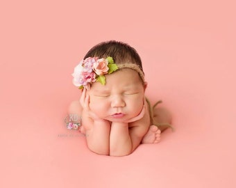 Dusty Pink Solid Posing Fabric backdrop photo prop, bean bag cover, fabric drop, newborn baby, 2 yards