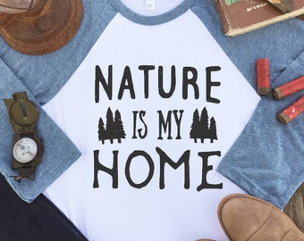 Baseball Tee - Valentines Gift - Nature Lover Gift - Nature Lover - Hippie Clothes - Gift for Travelers - Nature Shirt - Wanderlust Shirt