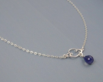 Rain Cloud Necklace Sterling Silver Necklace Gemstone Necklace Blue Jewelry Unique Gift Ideas 21st Birthday Gifts for Her