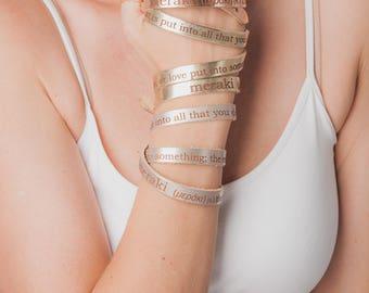 Meraki Leather Wrap Bracelets, Lasered Wrap Bracelets, Assorted Colors, Meraki, Wrap Bracelets, Gifts for Her, Leather Bracelets, Rose Gold
