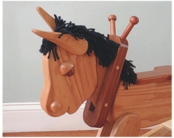 Wooden Rocking Horse, Riding Rocking Horse, Nursery Decor.