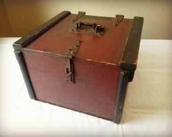 Wooden Ammunition Box - Vintage Box - Storage Box - Treasure Box