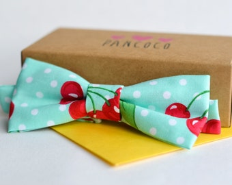 Cherry fabric - Adjustable bowtie - Unisex