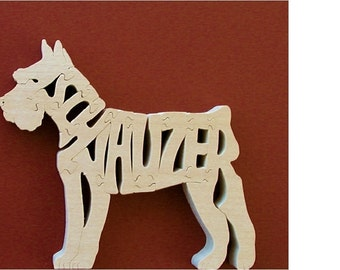 Schnauzer Pet Toy Puzzle Cut On Scroll