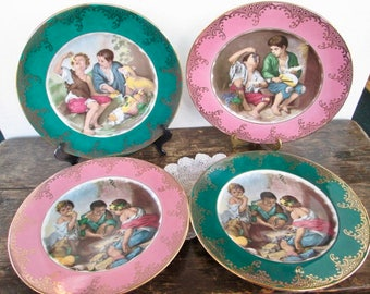 Reduced Four Royal Vienna Style Plates