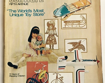 FAO Schwarz Toy Catalog, 1973 1974, Fall Winter, Nice Condition, NYC Memorabilia, Snoopy, Steiff Animals,