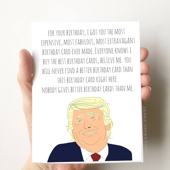 Donald Trump Birthday Card Funny Birthday Card Boyfriend