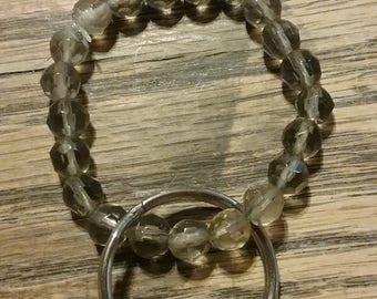 Brown Beaded Key Chain 21