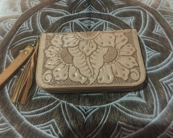 Hand tooled wallet / purse