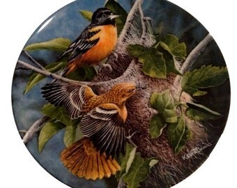 Baltimore Orioles Bird Plate Kevin Daniel Knowles Collectible Plates Gift For Valentines Day Bird Lover