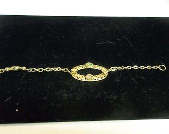 Vintage Upcycled Bracelet in Gold, 317S