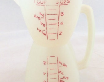 Vintage Tupperware 8 Oz Dry and Wet Measuring Cup, Tupperware Double Measuring Cup