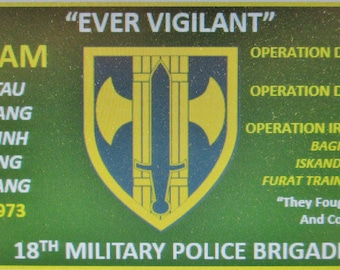 "18th Military Police Brigade "" Ever Vigilant"" 3' x 5' 2Ply Polyester Flag One-Sided Indoor Flag w/Four Grommets"