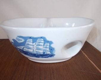 Vintage Genuine Porcelain House Of Fuller Ship Soap Dish
