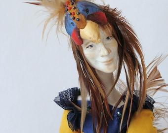 "Art doll OOAK, handmade doll ""The Birdman"""