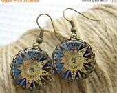 SALE 50% Compass Earrings Dangle Nautical Earrings Women Earrings Art Jewelry Girl Earrings Gifts For Her (025)