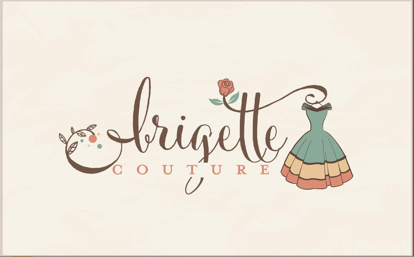 fashion logo design vintage logo boutique logo ruistic