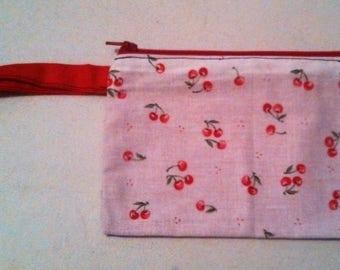 Red Cherry Wristlet