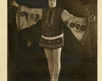 Actor in amazing costume antique photo