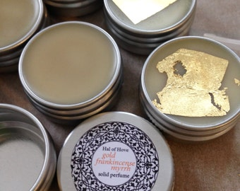 Solid Perfume (gold, frankincense & myrrh) 10ml tin
