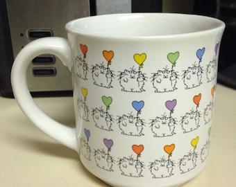 Boynton Cats with Heart Balloons Coffee Mug