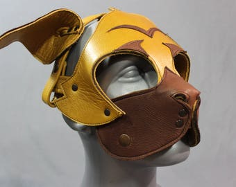 Pug Style Pup Mask in shades of Brown