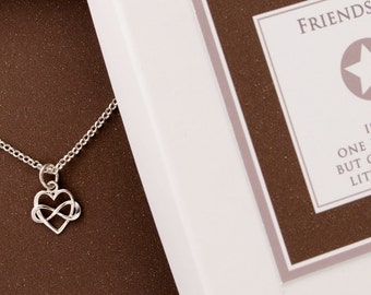 Sterling Silver INFINITY HEART 925 necklace